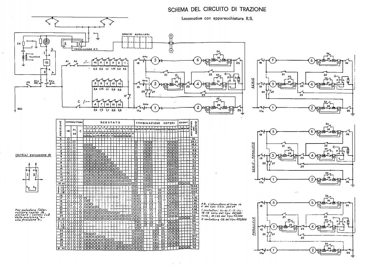 Schema Elettrico Relè Commutatore : Sezione elettrica