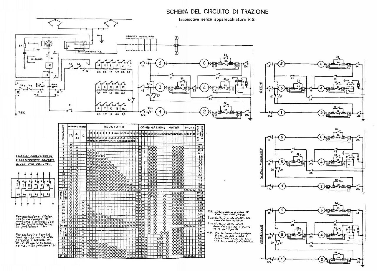 Schemi Elettrici Di Circuiti : Sezione elettrica