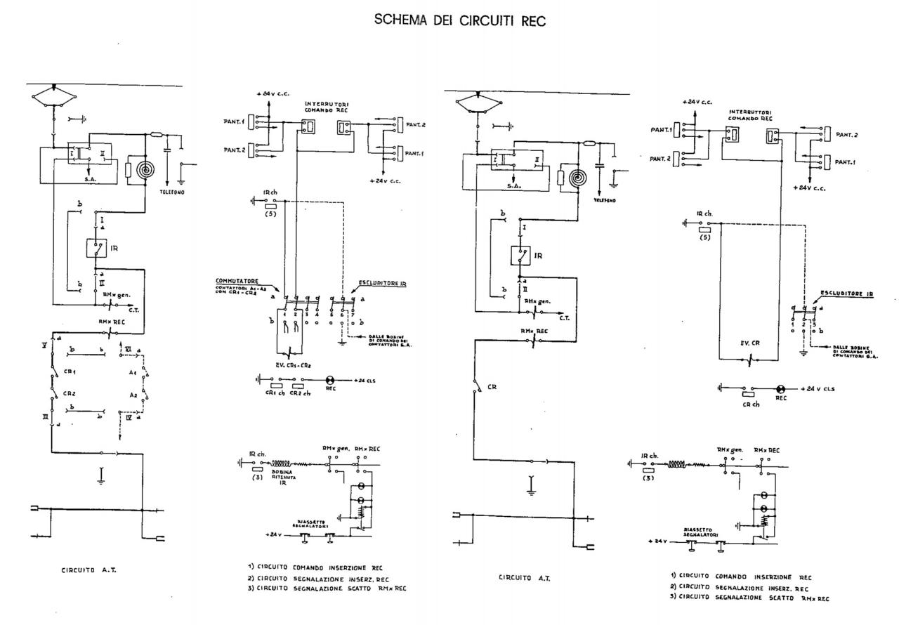 Schema Elettrico Lampada : Sezione elettrica